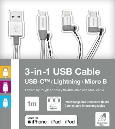 3-in-1 USB Cable Verbatim