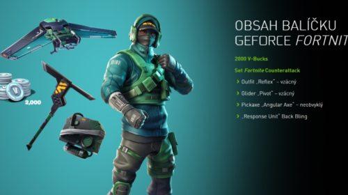 Fortnite Counterattack Set a herní měna ke grafickým kartám NVIDIA GeForce GTX
