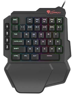 Miniklávesnice Genesis Thor 100 RGB