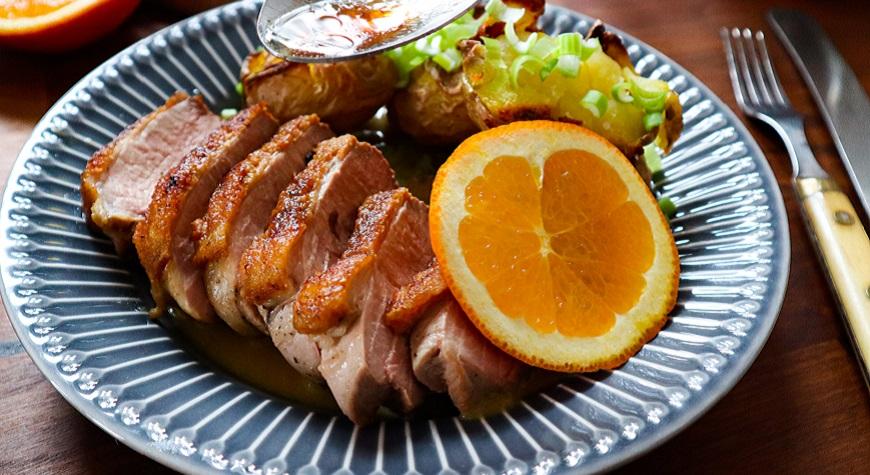 kachní prso na pomerančích 1